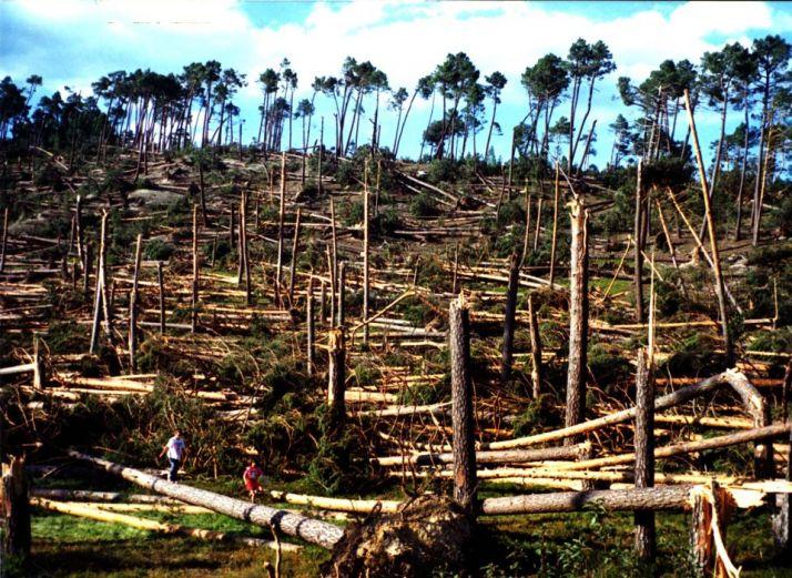 Consecuencias del tornado del 1 de junio de 1999. /Agustín Sandoval