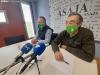 Gómez (dcha.) con Donaciano Dujo en rueda de prensa el pasado mayo.