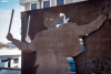 Escultura en homenaje a los danzantes de San Leonardo. /María Ferrer