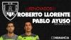 Foto 1 - Roberto Llorente y Pablo Ayuso seguirán en el cuerpo técnico numantino