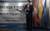 El presidente, durante su intervención en el Curso Universitario de Verano Prensa y Poder. /Jta.