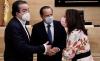 Vidal Galicia, Mario Amilivia y Rosa Rubio hoy en las Cortes regionales.