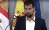 Luis Tudanca, hoy en comparecencia de prensa.