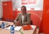 Martín Navas en la sede del PSOE de Soria.