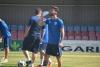 Uno de los jugadores rojillos en un entrenamiento. CD Numancia.