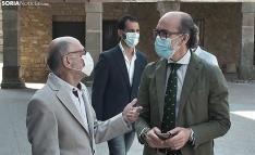 Una imagen de la visita del consejero al Palacio Ducal de Medinaceli. /SN