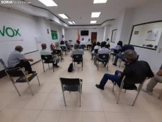 Una imagen de la sede de Vox en Soria este viernes. /SN