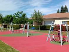 Parques renovados en San Esteban de Gormaz.