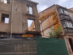 El inmueble ahora, durante su demolición. /SN