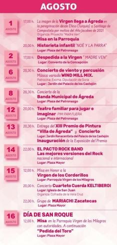 Actividades en Ágreda durante el mes de agosto.