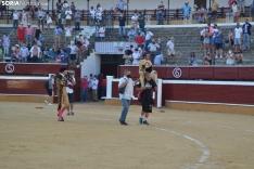 Una imagen de la tarde este sábado en la plaza de toros de San Benito. /SN