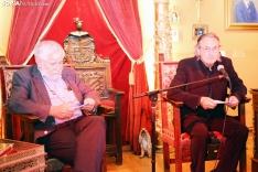 Florencio Dominguez  y Ramón Jiménez Fraile, en la conferencia de Bretún.