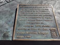 Maqueta de bronce de la ciudad de Soria.