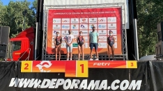 Natalia Hidalgo y Sergio Baxter ganan el Triatlón de Almazán, primer clasificatorio para el camp