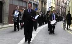 Una imagen de la Banda en la calle Venerable. /BMA