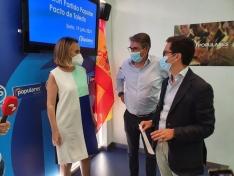 Reunión del grupo de trabajo sobre pensiones del PP nacional hoy en Soria.