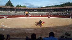 Foto 3 - Nueve orejas y dos rabos en la corrida de El Burgo: los tres actuantes salen por la puerta grande