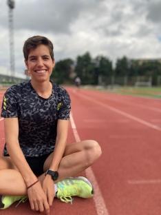 Marta Pérez en un entrenamiento.