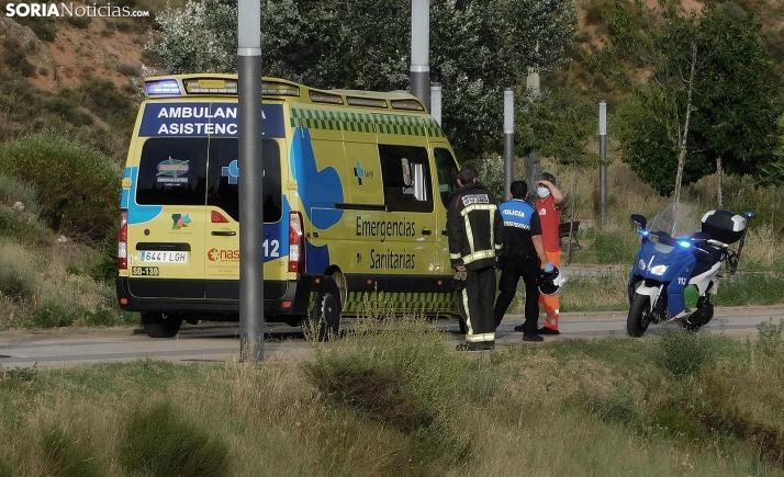 Nuevo suceso en la capital: Los bomberos rescatan a un ciclista accidentado en el Cerro de los Moros