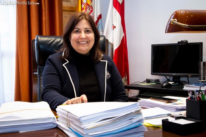 María Luisa Aguilera, alcaldesa de San Esteban de Gormaz. /María Ferrer