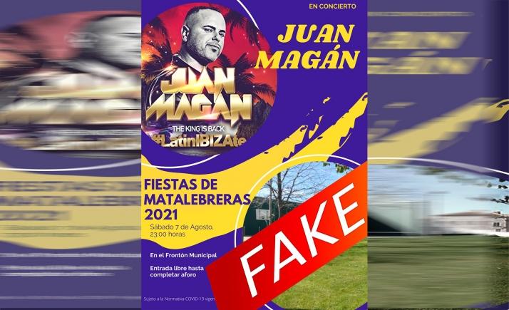 Foto 1 - Matalebreras desmiente un bulo que anuncia un concierto de Juan Magán para agosto