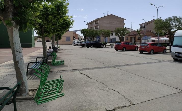 Imagen del emplazamiento tradicional del mercadillo, junto al frontón.