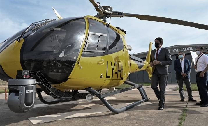Castilla y León incorpora un nuevo helicóptero integral de coordinación, observación, análisis y planificación a la lucha contra incendios forestales