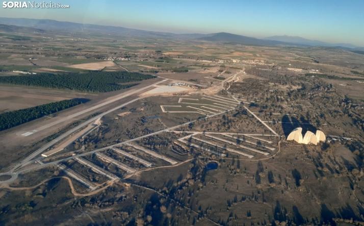 Vista aérea del Aeródromo de Garray.