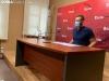Manu Salvador en rueda de prensa.