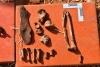 Restos óseos localizados en La Riba de Escalote.