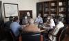 Una imagen de la reunión hoy entre las partes. /Jta.