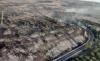 Vista aérea de parte de la superficie calcinada. /BRIF