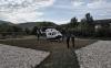 Un helicóptero de la Guardia Civil tras aterrizar en el helipuerto. /SdG