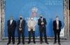 Rectores de las universidades con el vicepresidente, tras la presentación del acuerdo. /Jta.