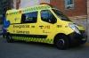 Ambulancia medicalizada del Sacyl.