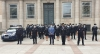 El subdelegado del Gobierno, con los nuevos miembros de la Policía Nacional de Soria.