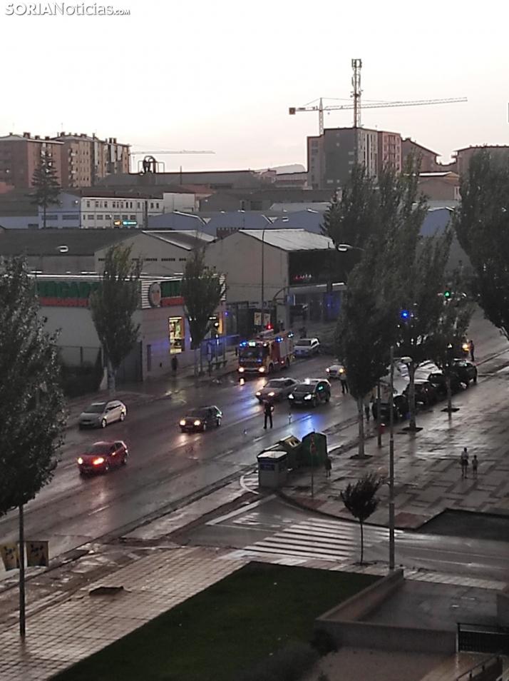 El fuerte viento deja en Soria 9 avisos y la caída de un arbol que obliga a cortar el tráfico