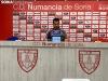 Diego Martínez en la rueda de prensa después del partido frente al Cerdanyola.