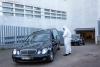 Varios coches fúnebres en el Hospital de Soria.