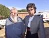 Rubén Sanz junto a su padre en una imagen de archivo.