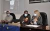 De Gregorio, Sabín y Villanueva, hoy en la sede del Cesefor durante la presentación del proyecto. /Jta.