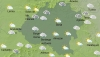 Mapa del cielo soriano este jueves a las 12:00. /AEMET