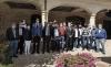 El consejero con los alcaldes de la mancomuidad Peña Amaya. /Jta.