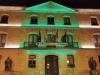 Imagen del Palacio Provincial en la noche de ayer. /Dip.