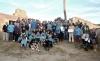Miembros de la agrupación durante un acto colectivo en Sarnago. /AAS