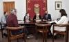 En el encuentro también han estado presentes el secretario municipal olvegueño y el alcalde pedáneo de Muro. /Jta.