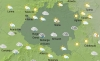 Mapa del tiempo para las 15:00 horas. /SN