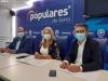 Heras, De Gregorio y Peregrina durante la rueda de prensa.