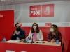 Los procuradores del PSOE hoy en rueda de prensa.