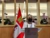 Verónica Casado, consejera de sanidad de Castilla y León, hoy en rueda de prensa en Soria. SN